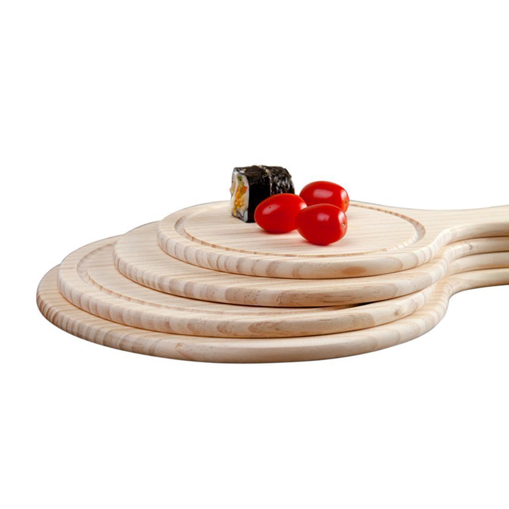 Runder Holzbrett Küche Pizzabettplatte Serviertablett mit Griff