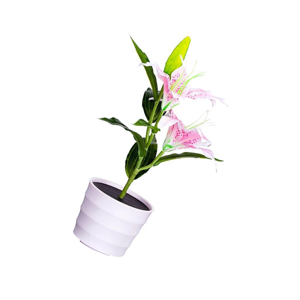 Gehweg Weg Solarbetriebene Rosen Lilien n LED helle Garten Weg Weisen