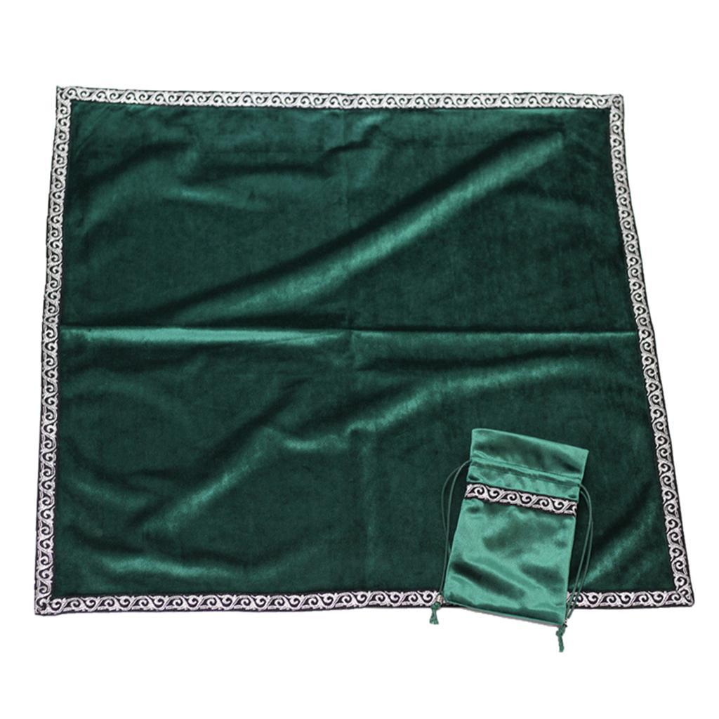 Altar Tarot Table Cloth Bag Divination Cards Pouch Wicca Square Tablecloth