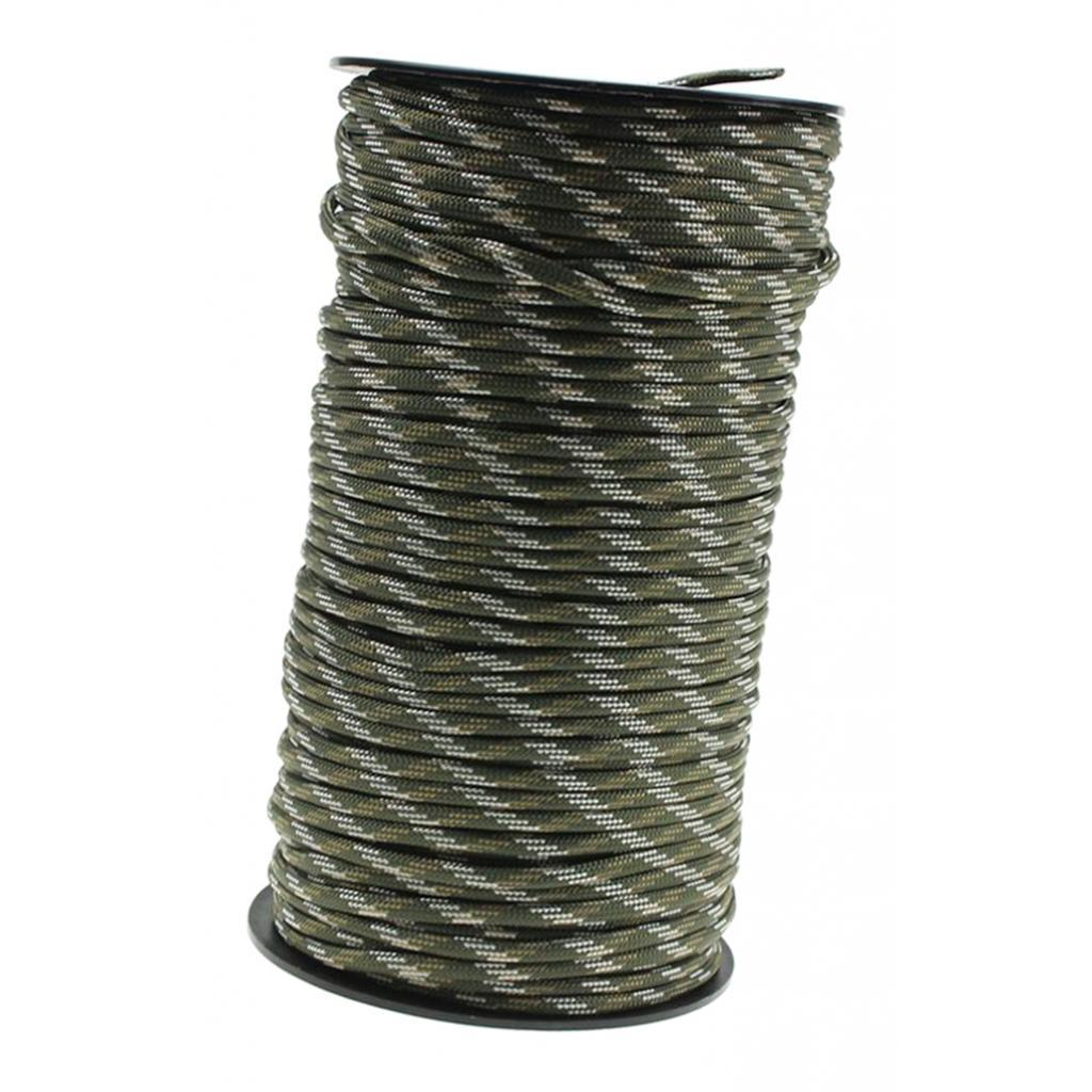4mm 100M 7 Strand Outdoor   Paracord Parachute Cord Binding Tent Rope