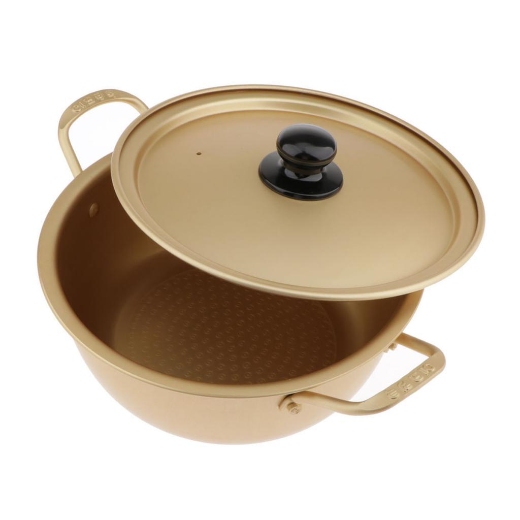 Aluminum Korean Noodle Cooking Ramen Ramyun Soup Pot with Lid 16//18//20 cm