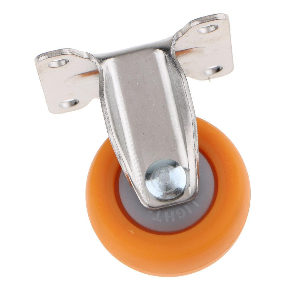 Heavy Duty Nylon Castor Furniture Trolley Wheels Fixed Top Plate 4 Sizes