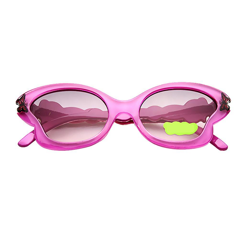 Girls Children Holiday Party Butterfly Shaped Plastic Sunglasses Shades UV400