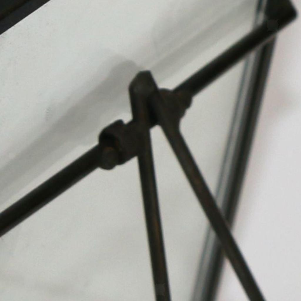 Vintage Brass Black Metal Glass Floating Picture Frame Poster Photo Frame