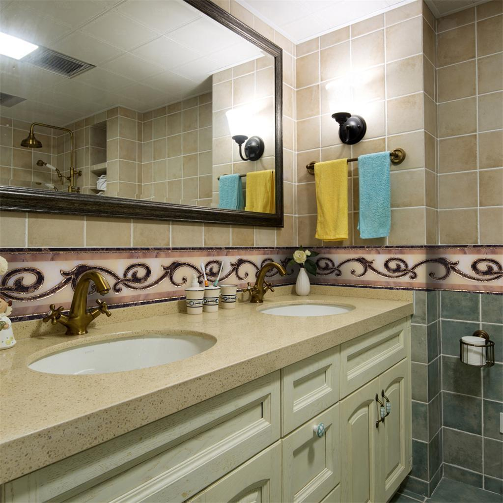 10x500cm Self Adhesive Tile Wall Sticker 3D DIY Floor Kitchen Home Decor