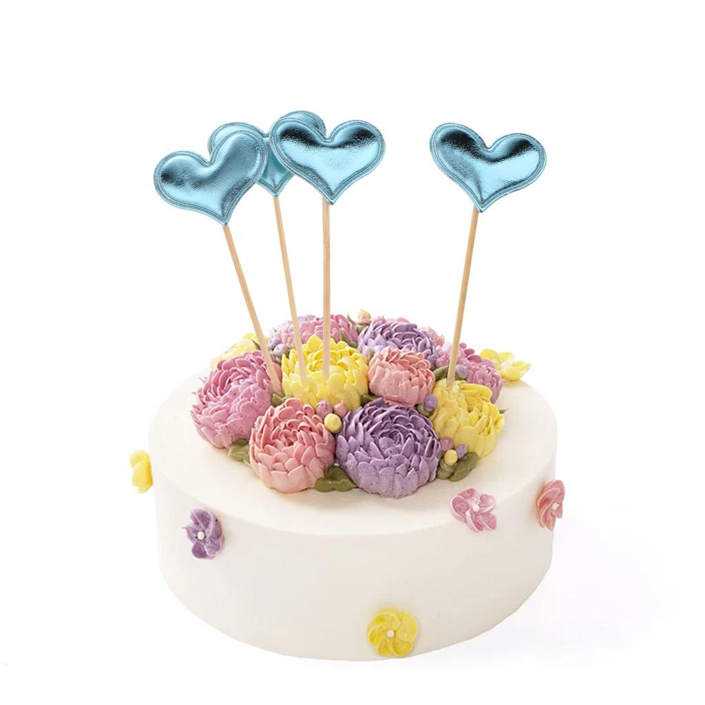 Details About 20 Pieces Heart Cup Cake Topper Picks Birthday Party Baby Shower Supplies