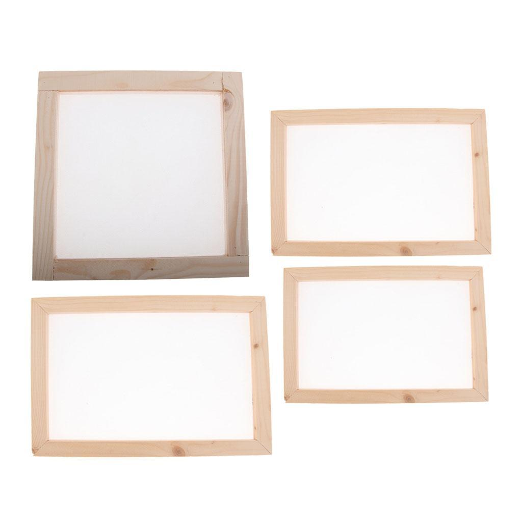 Ancient Wooden Paper Making Mould Frame Screen for Paper Recycling Art Craft