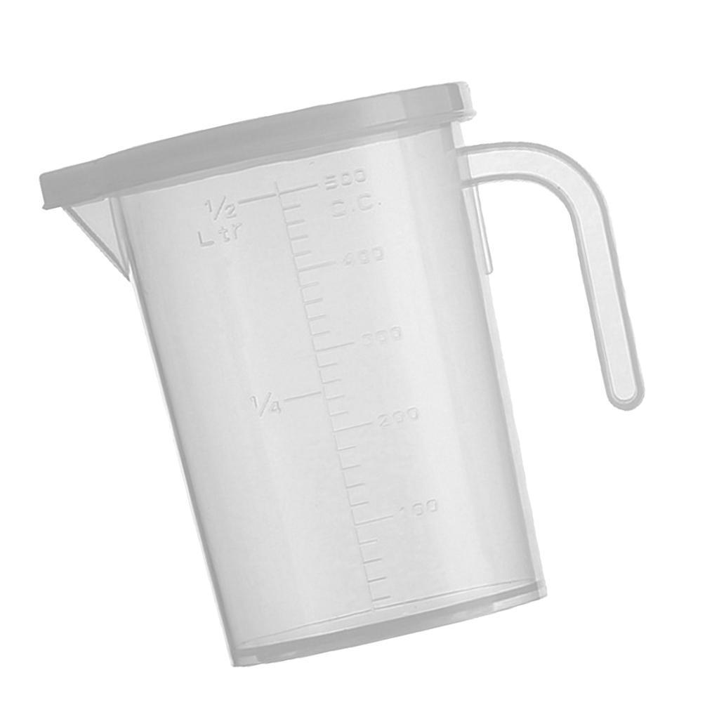 Transparente Küche Flüssigskala Messbecher Messbehälter