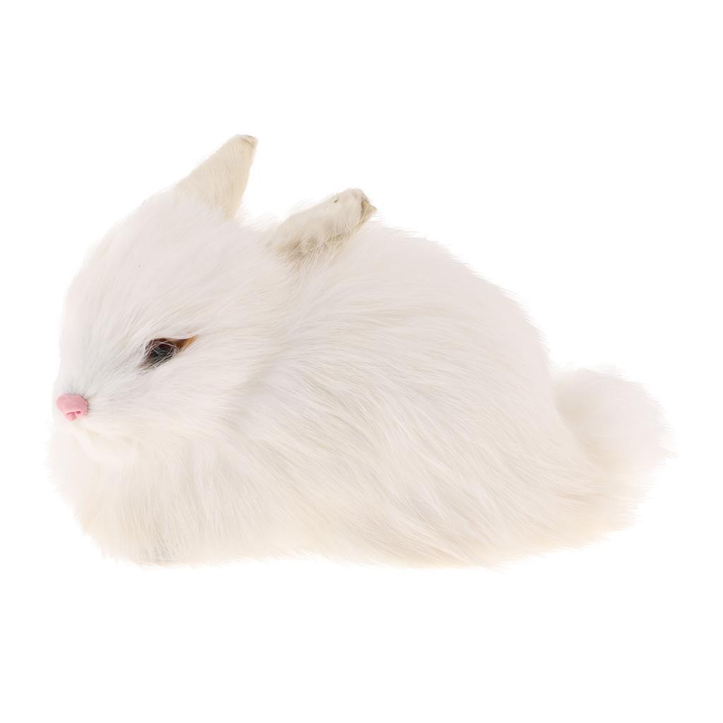 Vivid Realistische Kanichen Spielzeug Tierfigur Dekofigur Spielzeug Wohnkultur