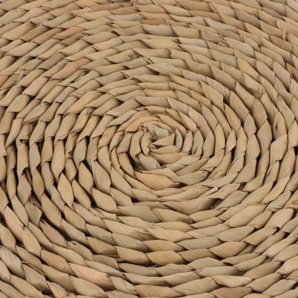 Cushion 15.75 inches Japaness Style Straw Knitted Round Seat Cushion Dia 40cm