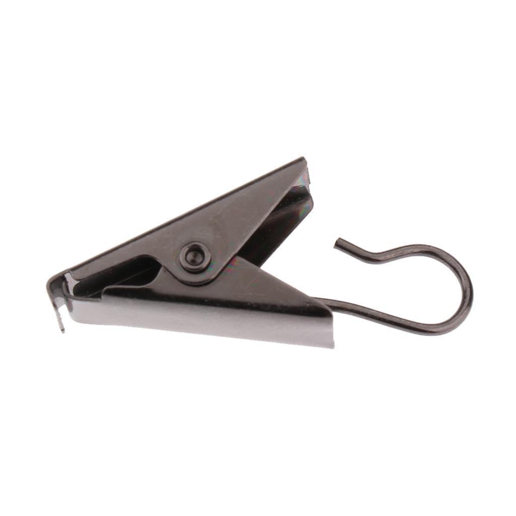 30pcs Anneau à Pince de Rideau Clip à Glisser de Rideau Patère pour Store-38mm