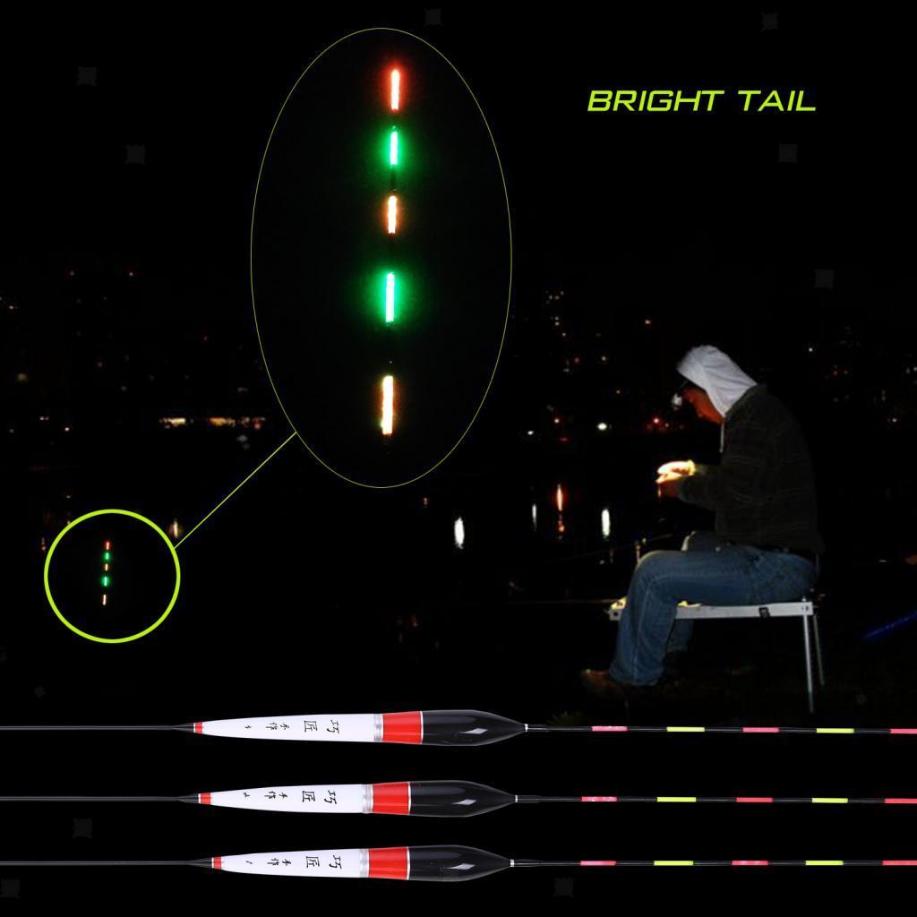Leuchtende elektronische Schwimmer Nacht Angeln Bobbers Angelgerät