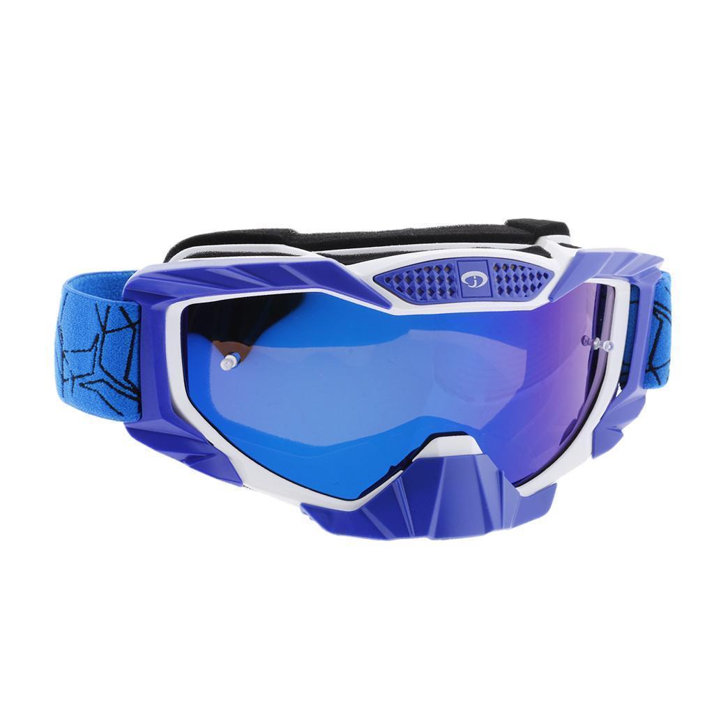 Motorcycle Dustproof Eyewear Skiing Snowboarding Anti-Fog Goggles Colorful Lens