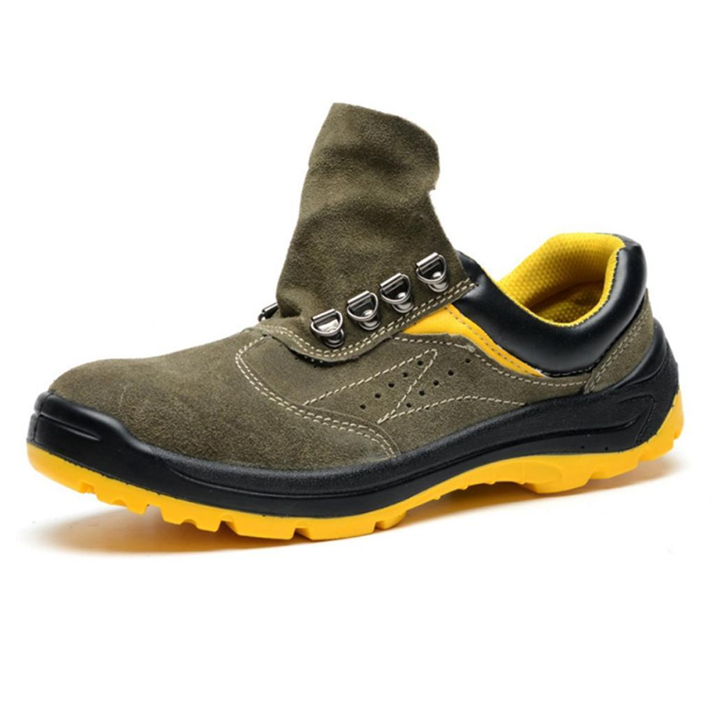 Leather Steel Toe Cap Midsole Safety Work Shoes Boots Anti Pierce /&Abrasive