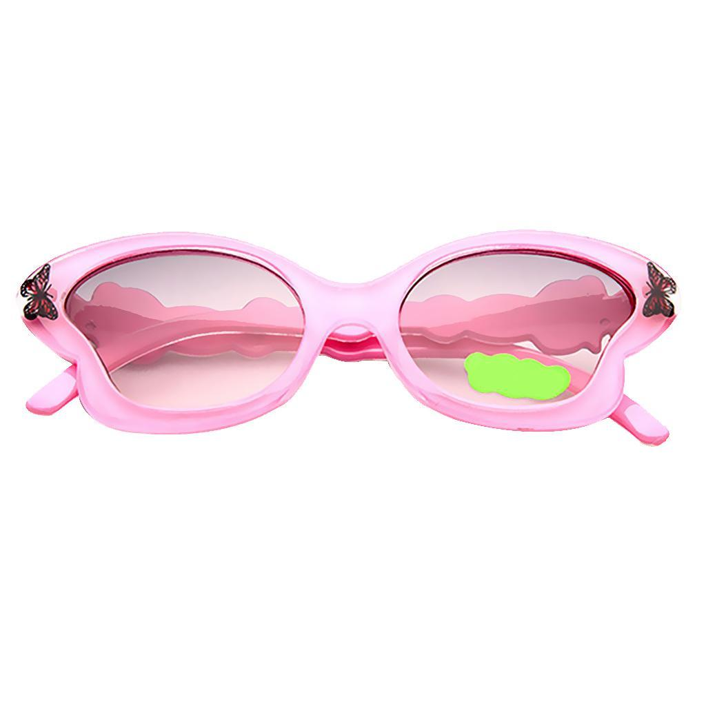 Toddlers Children Kids Sunglasses ANTI-UV Butterfly Shades Girls Eyewear Goggles