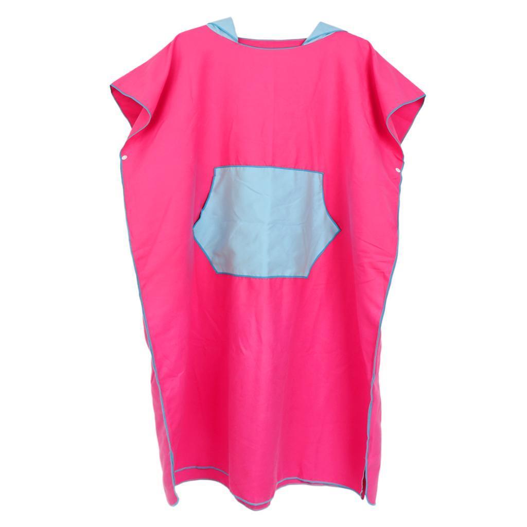 Unisex Surf Neoprenanzug Wickel Handtuch Poncho Robe mit Kapuze Tasche für