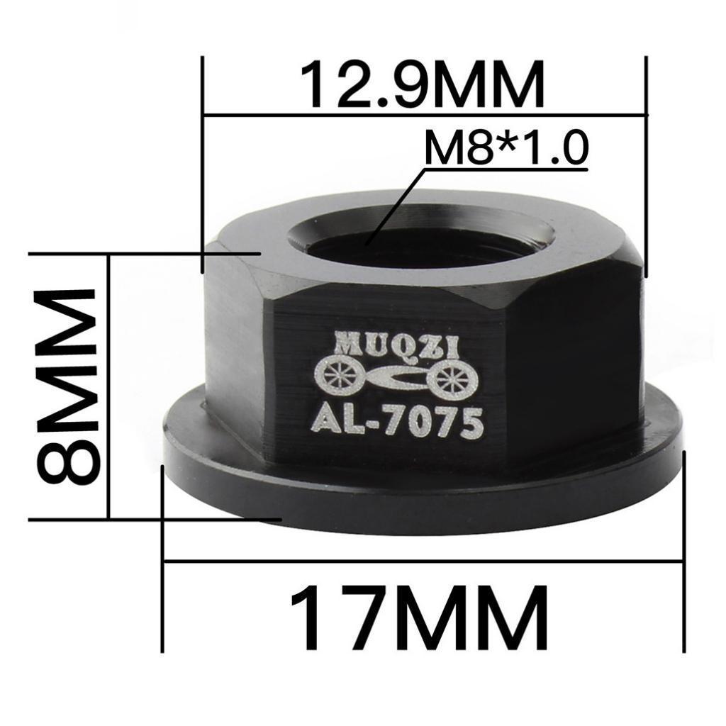 2 Pack Aluminum Alloy M8 Front//Rear Hub Nut Hardware for Kids Balance Bike