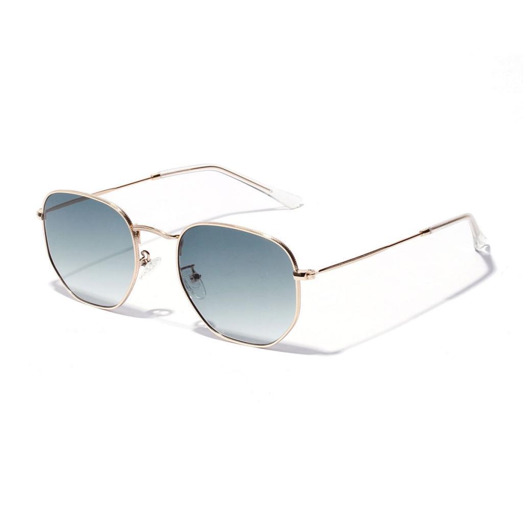 New Fashion Men Women/'s Square Metal Sunglasses Vintage Retro Mirror Glasses