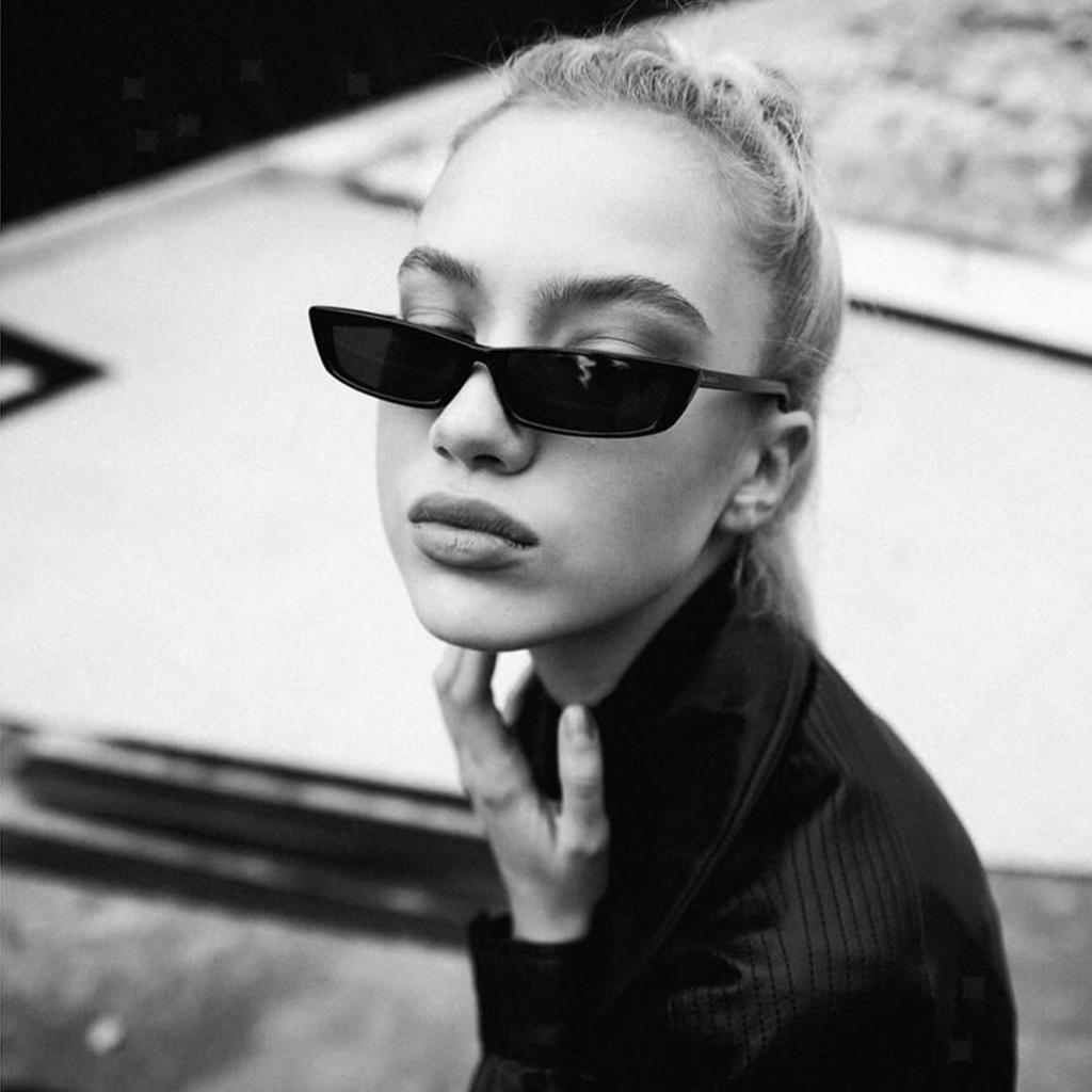 Damen Mode Cat Eye Gläser Retro Rockabilly Sonnenbrille Ovale Brille Dekobrille