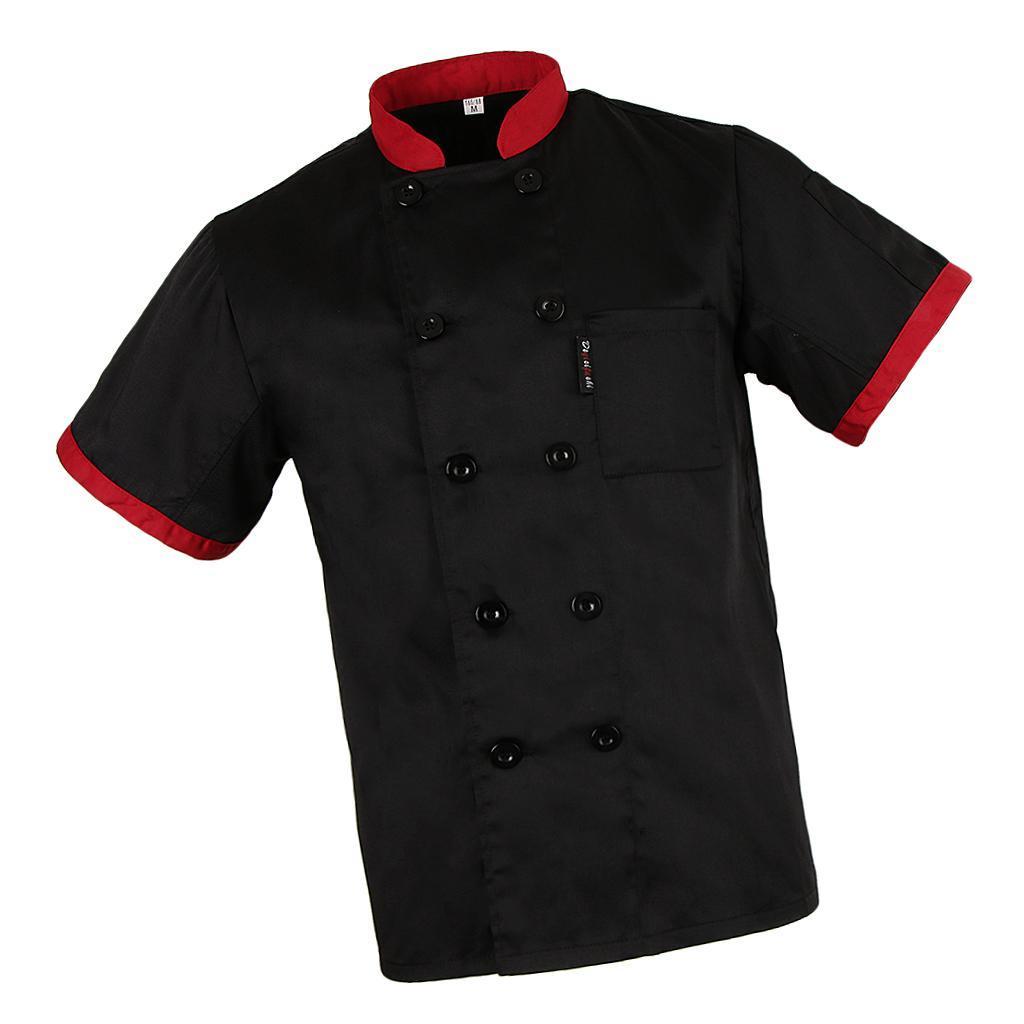 Kurze Mesh Ärmel Kochjacke Mantel Küche Bäckerei Uniform für Frauen