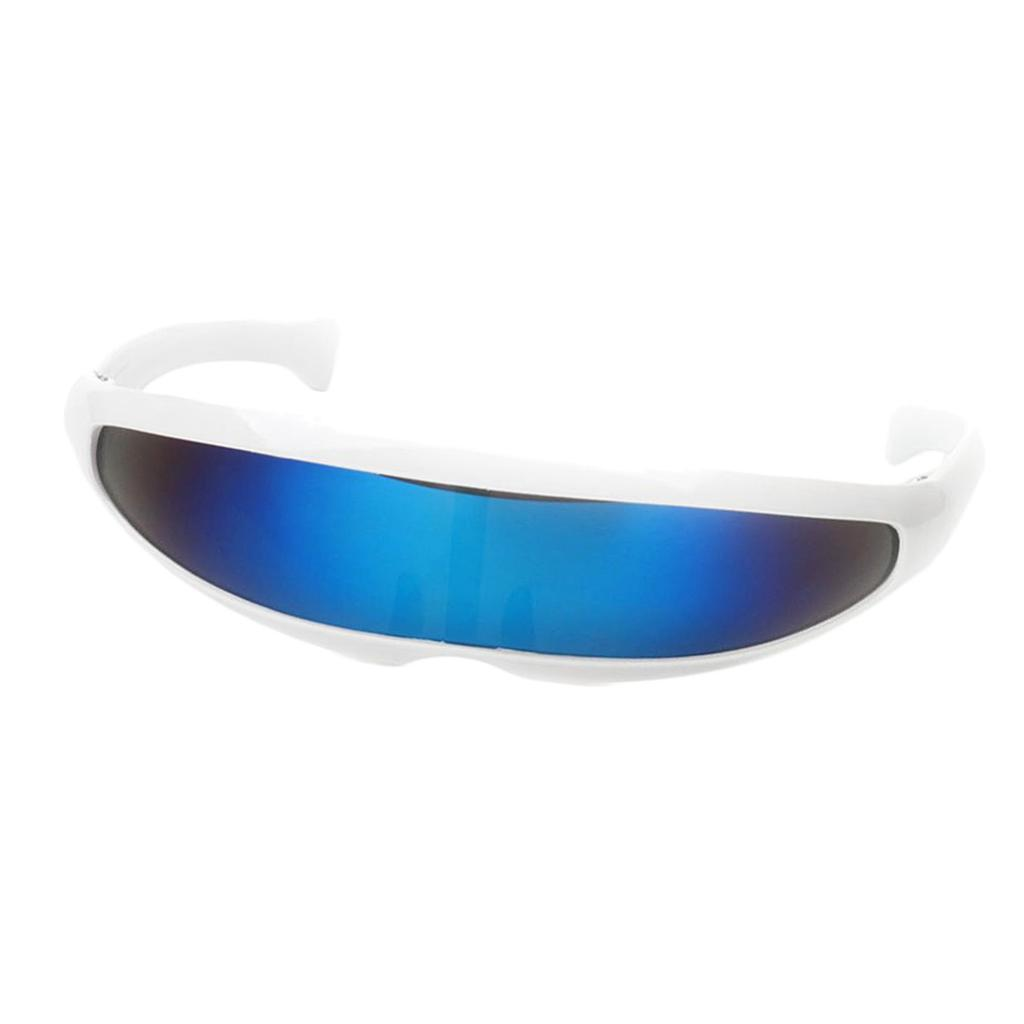 Blesiya Halloween Party Costume Futuristic Robotic Single Lens Sunglasses