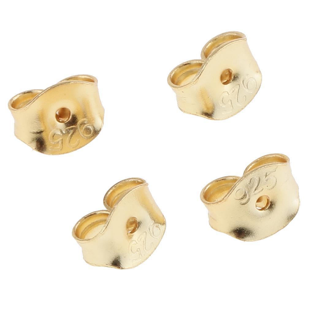 4pcs Lot de boucle d/'oreille dos oreille sécurité écrou papillon 5.5 mm Friction Bouchons