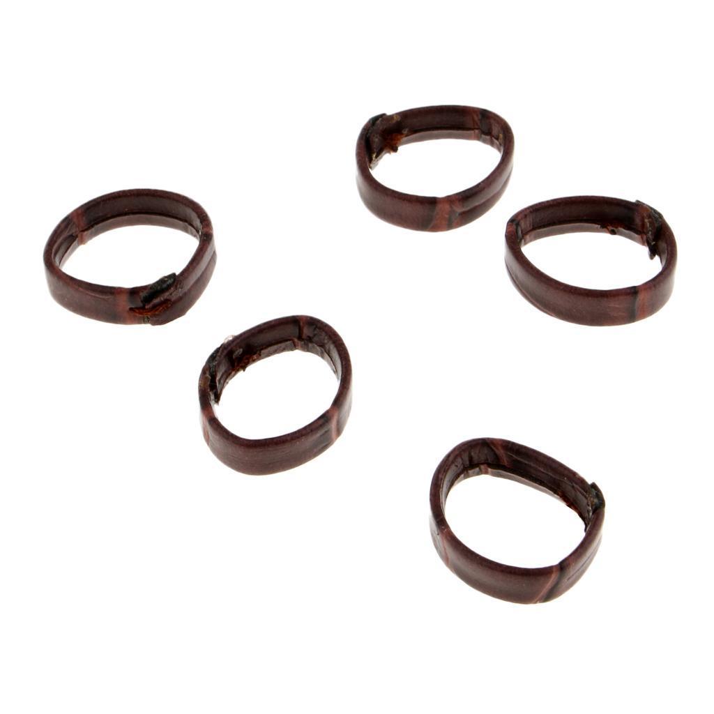 5 teile paket Uhrenarmband Schleife PU Leder Uhrenarmband Keeper Ersatz