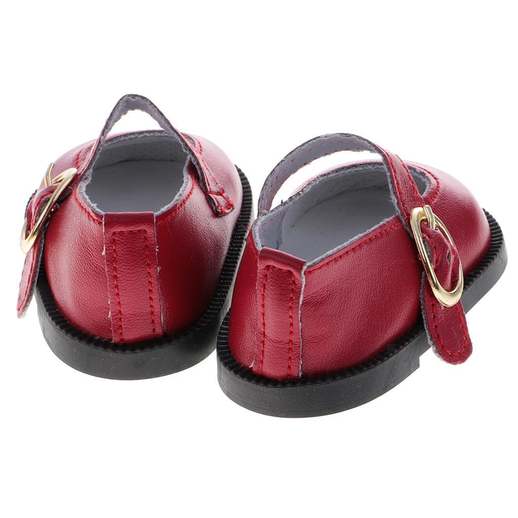 Adorable Doll Party PU Leather Ankle Belt Shoes for 18/'/' American Doll Gotz Doll