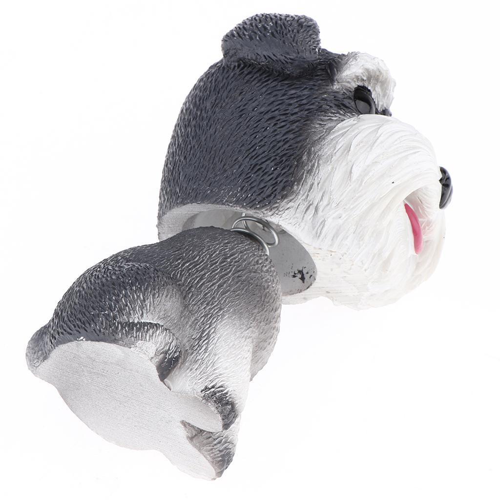 Resin Shaking Head Puppy Doll Nodding Bobbing Dog Toy Car Interior Decor