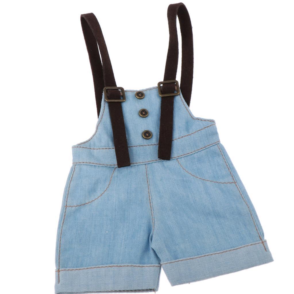 Puppenkleidung Puppenhose Hosenträger Hosen für 1//4 BJD Dollfie Puppe