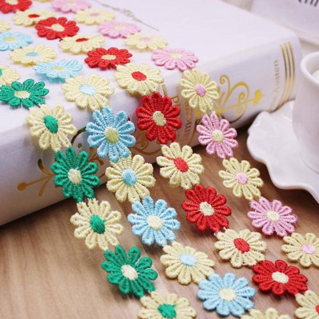 Bordure en Dentelle Ruban pour Mariage Robe de mariée brodé À faire soi-même Sewing Craft