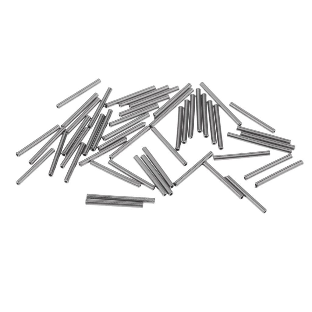 50x Fishing Wire Leader Sleeve Single Barrel Crimping Sleeves Connector 10mm