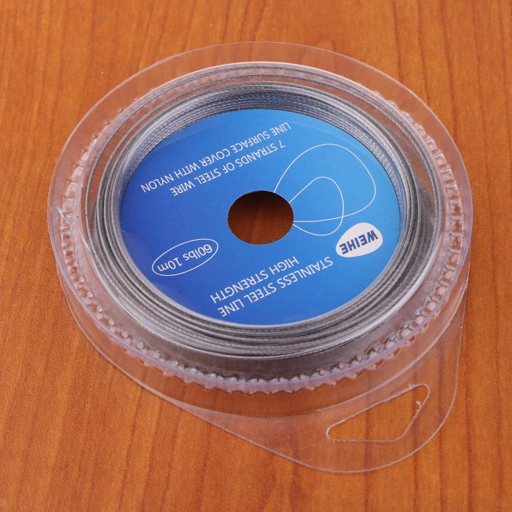 7 Strands Stainless Steel Fishing Wire Trace Line Coated Leader Braided Line