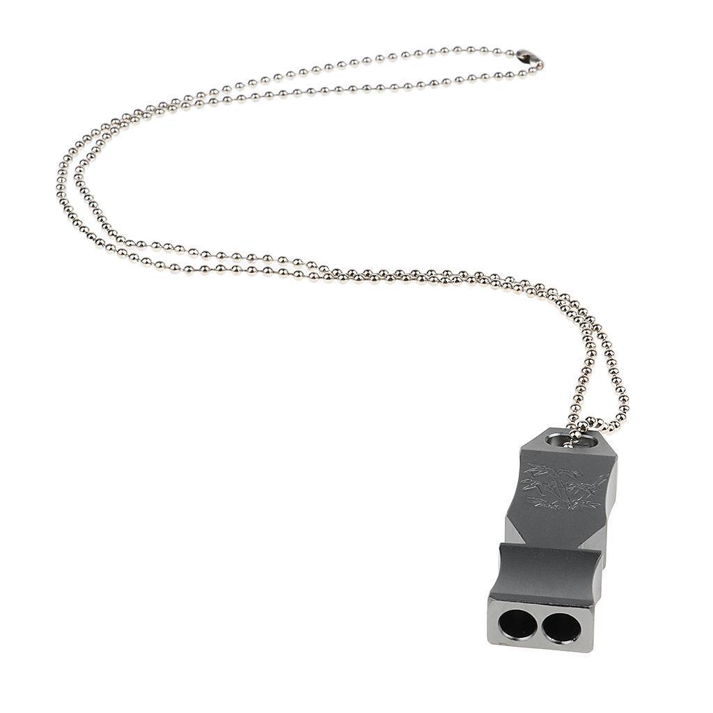 Sifflet extérieur de survie d/'urgence d/'alliage d/'aluminium avec la chaîne