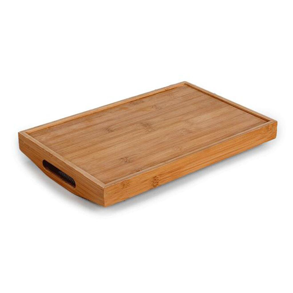 Tea//Coffee Table Tray Bamboo Serving Tray With Handles for Tea and Liquor