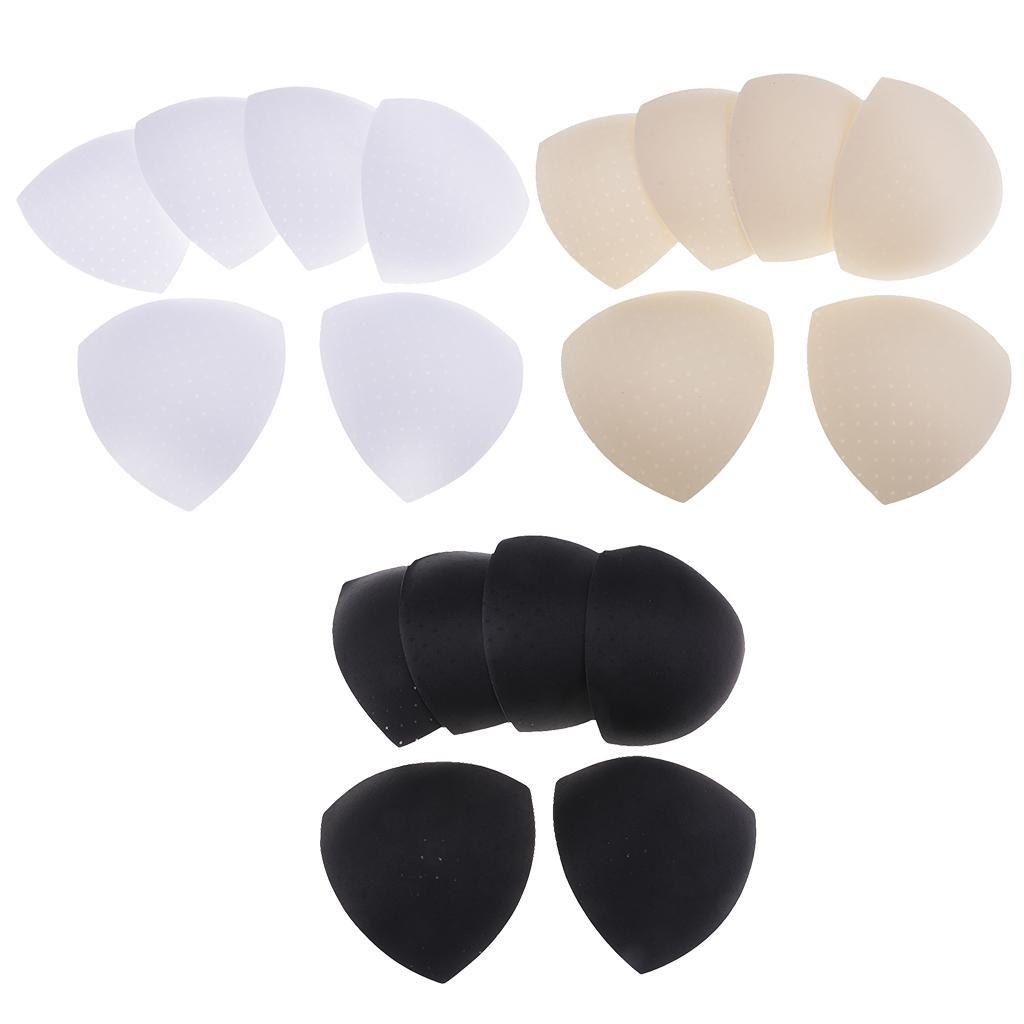 3 Pairs Triangle Bra Pad Inserts Push Up Sports Bra Removable Pads for Bikini