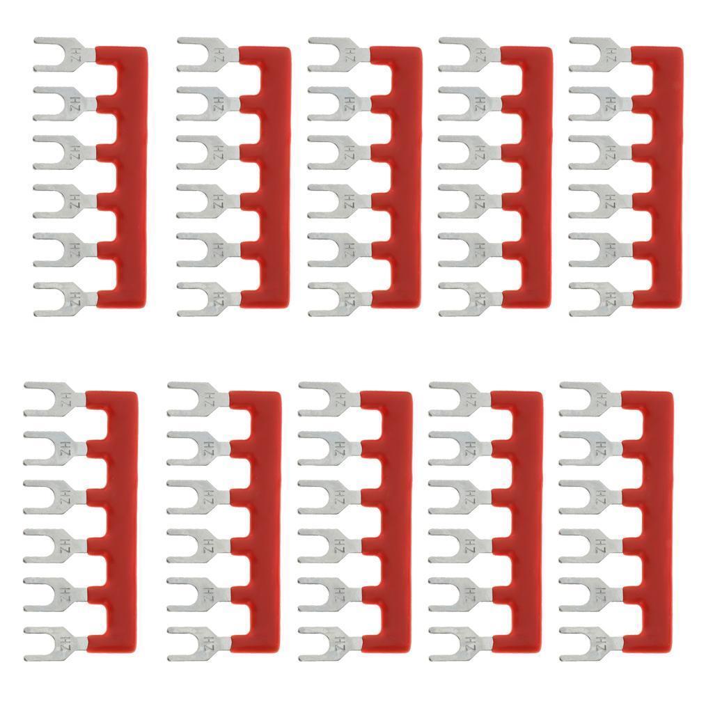 10 Pcs Terminal Block Jumper Strip 6 Positions Terminal Barrier Strip Jumper