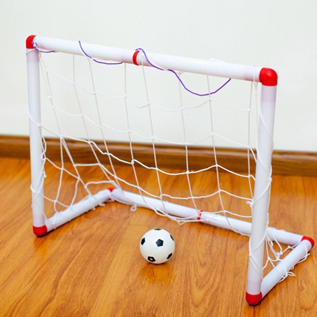 Giocattolo Porta Calcio Portatile Pallone Gonfiabile Bambini Esterno
