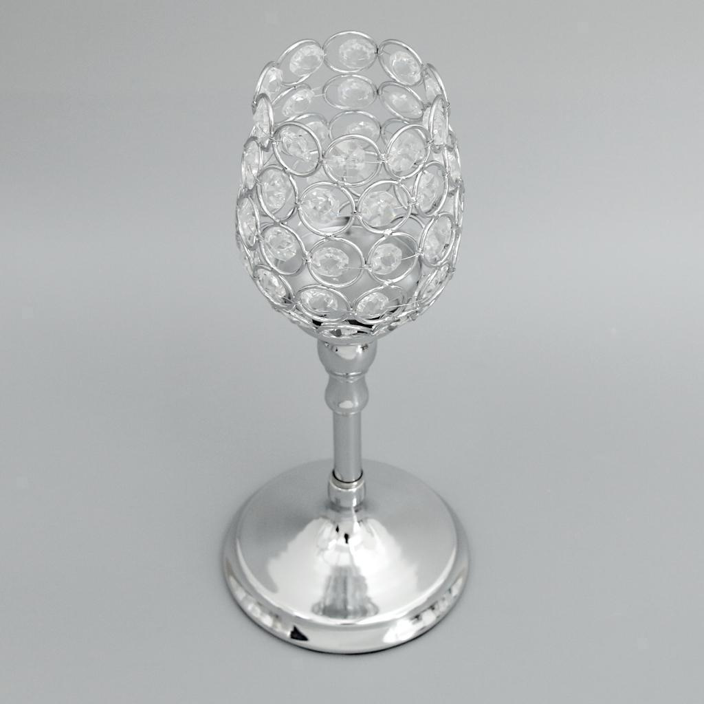 Crystal Votive Candle Holder Banquet Candlestick Handmade Ornament Home Deco