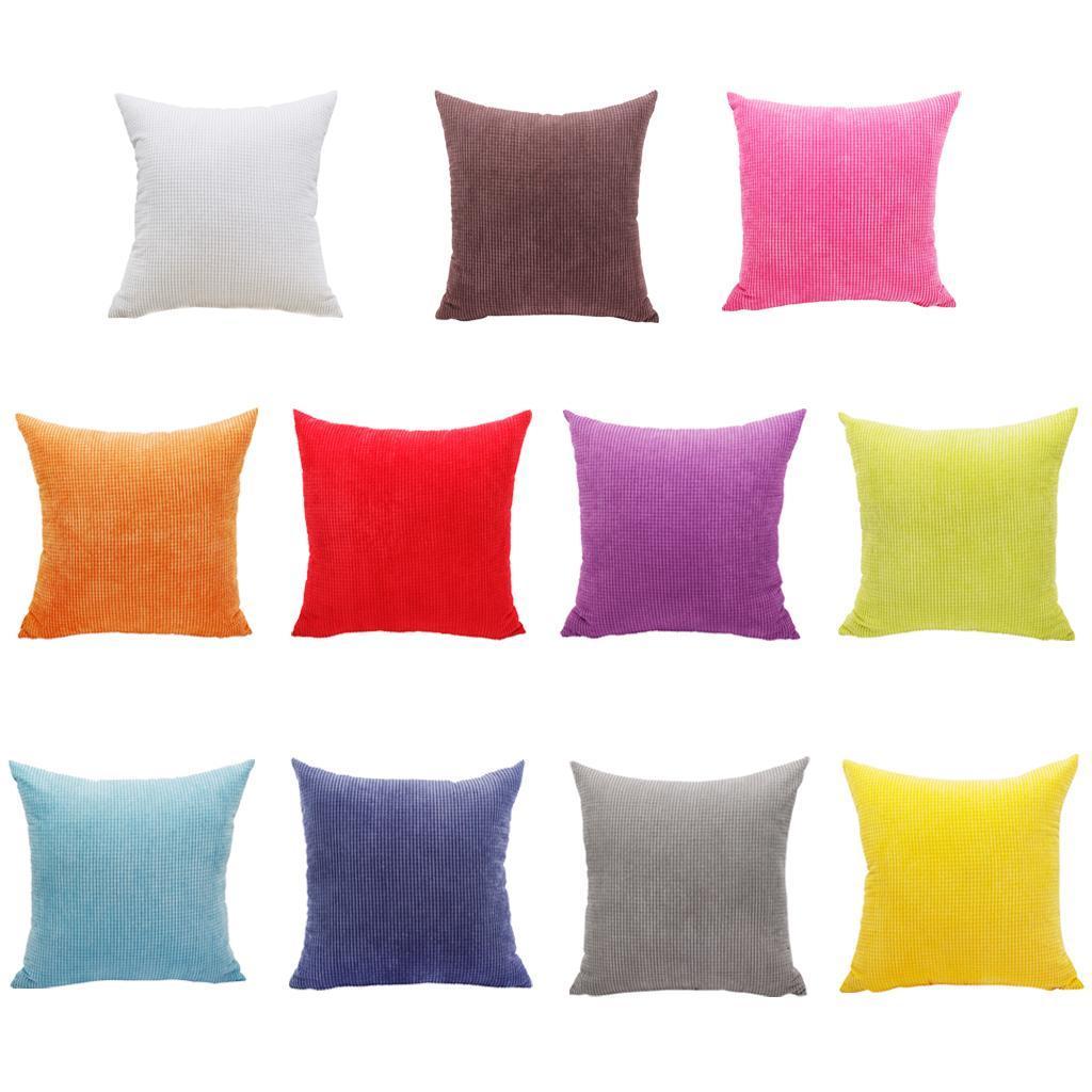 Bedroom Soft Velvet Throw Pillow Case Sofa Cushion Cover 23 x 23inch