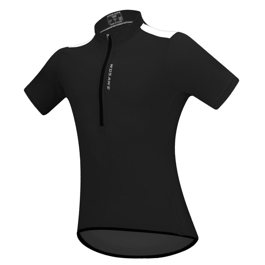 Men/'s Women/'s Short Manche Cycle Jersey Tops-Outdoor Road Bike Biking Shirt