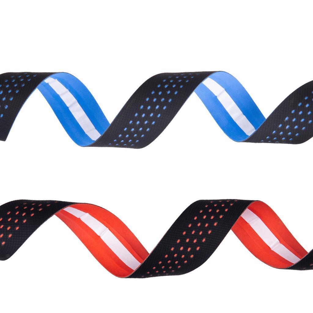2pcs Cycling Road Bike Handlebar Tape Bandage Wrap Bent Bar PU EVA Grip