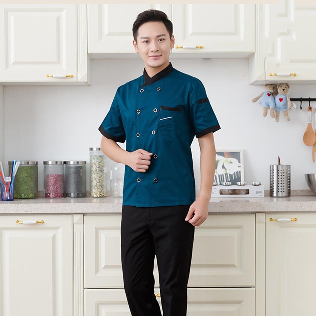 Chef Jacket Coat Apparel Hotel Kitchen Service Uniforme Per Uomo Donna