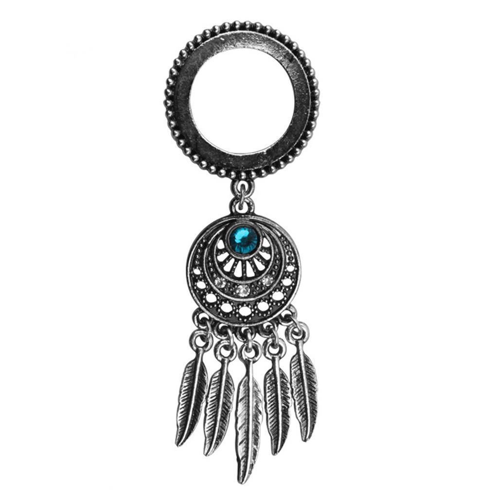 Tribe Crystal Dreamcatcher 5 Blatt Anhänger Ohr Plug Tunnel Screw
