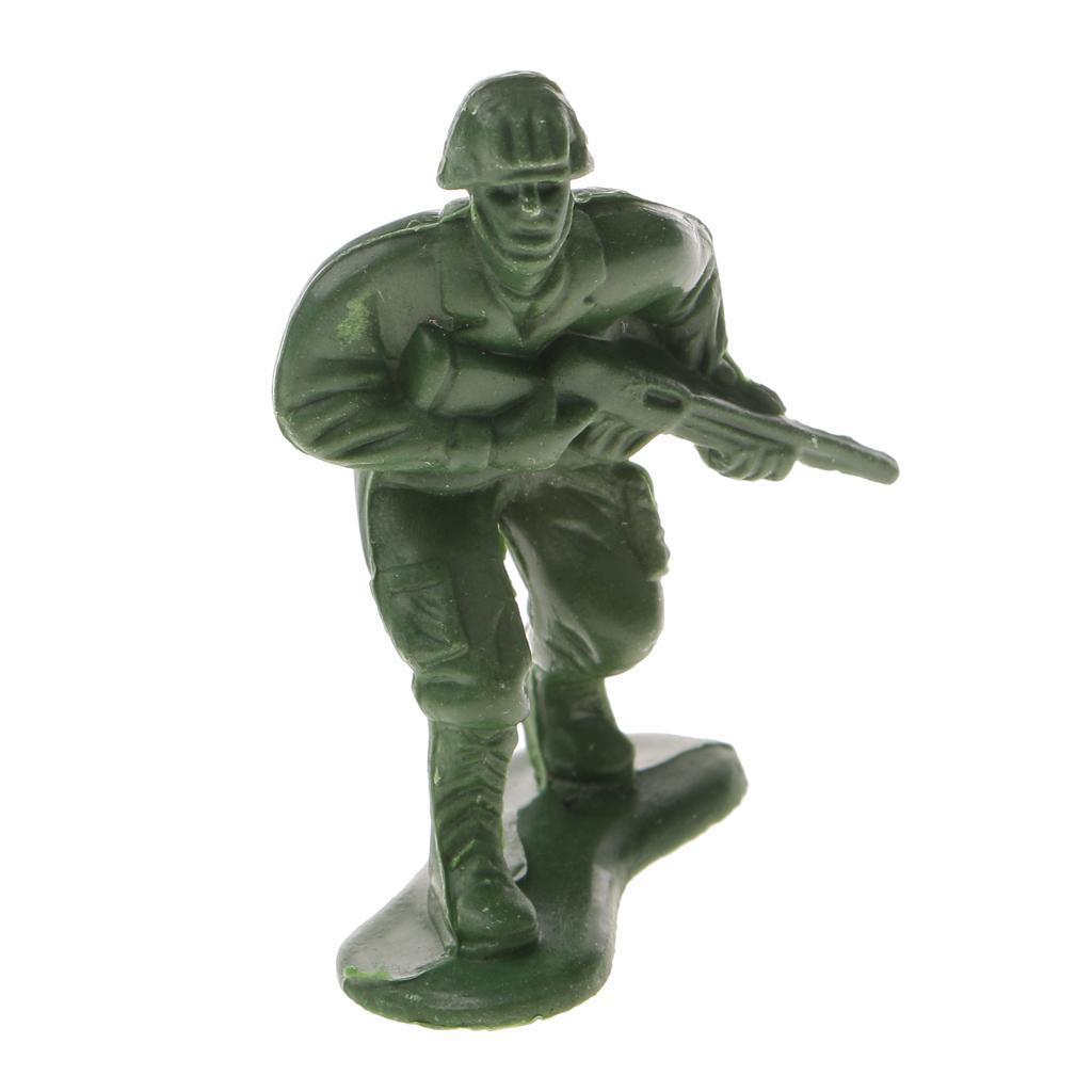 Plastique 6//12//100pcs Set ARMÉE POLICE SOLDAT À faire soi-même combat figures militaires jouet jeu