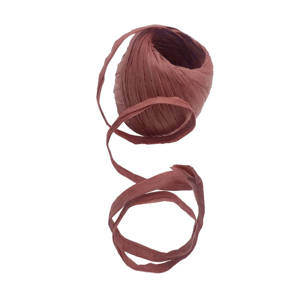 5-8mm Paper Raffia Tying Ribbon Wedding Favor Decoration Wrapping Craft 20M//Roll