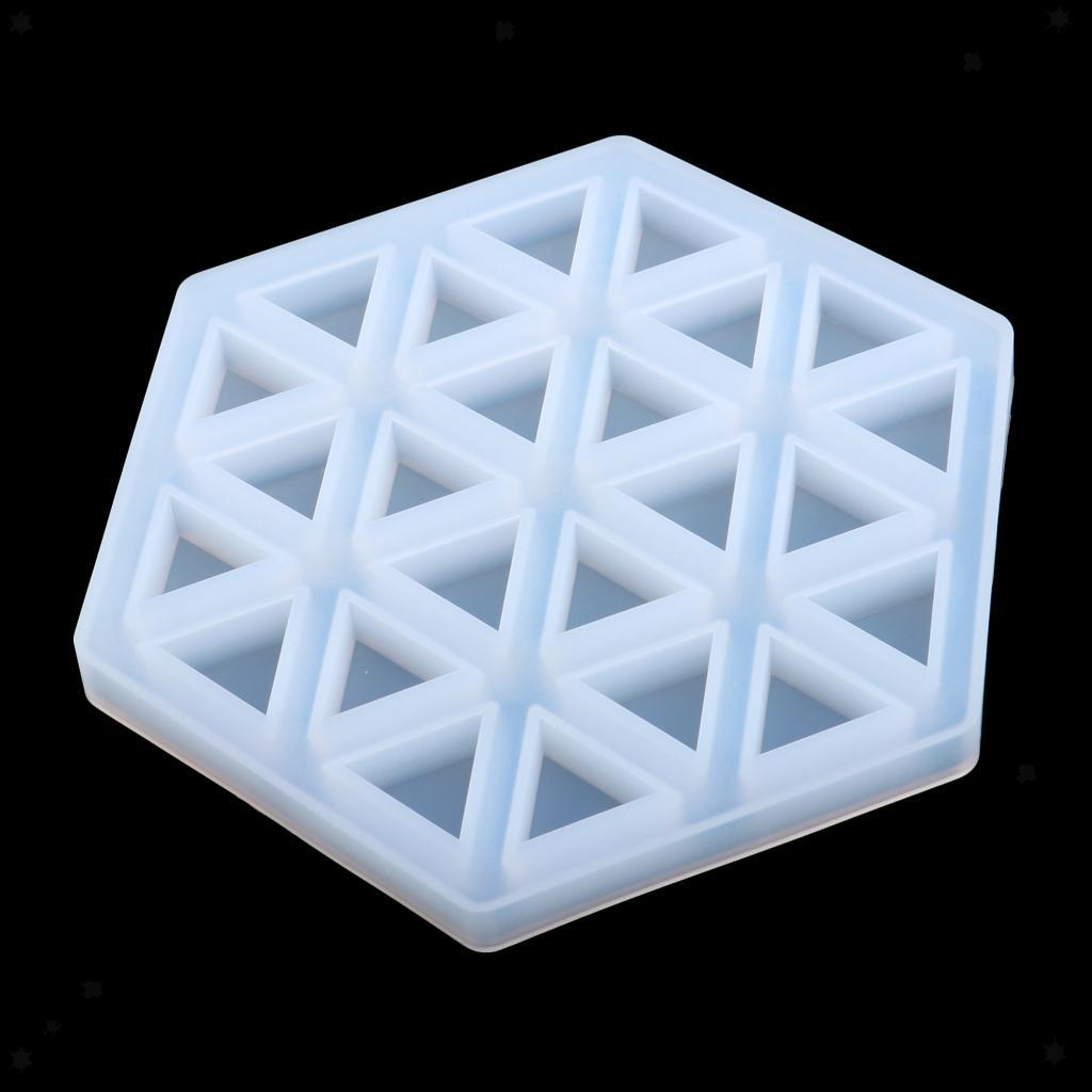 DIY Epoxy Resin Jewelry Making Tool Silicone Cup Mat Coaster Casting Mold