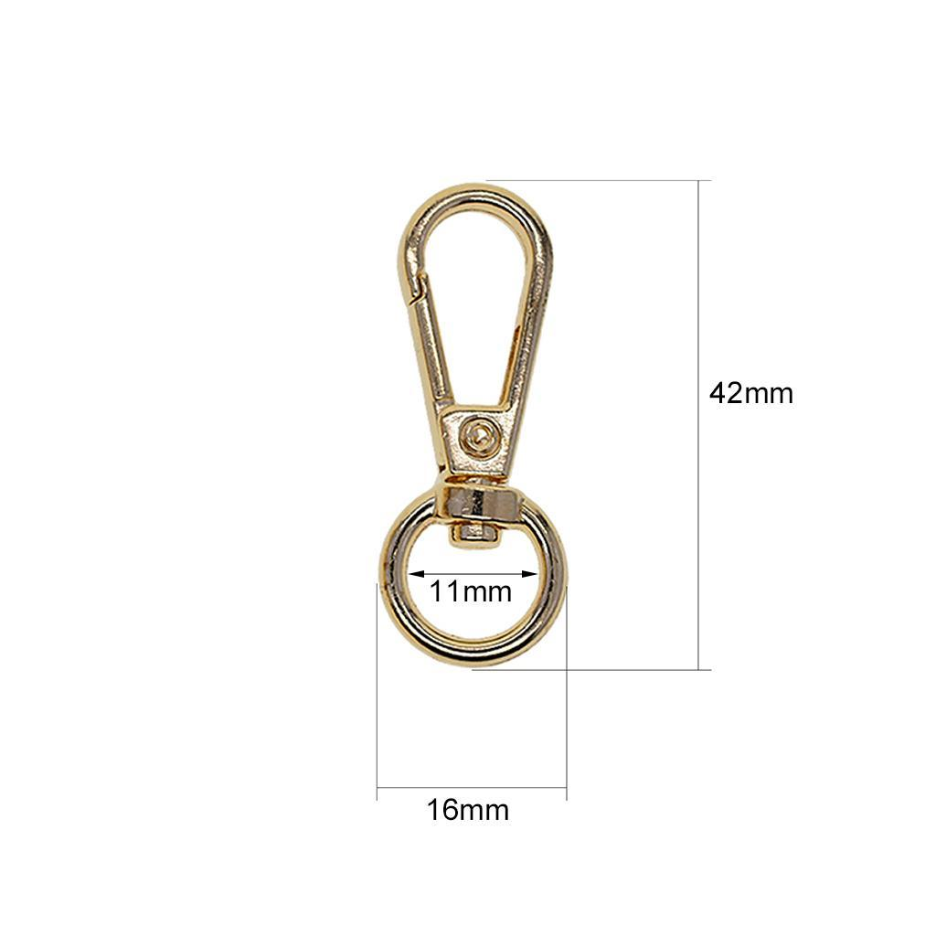 10x Alloy Swivel Lobster Clasps Clips Snap Hook Bag Craft Key Chain Key Ring