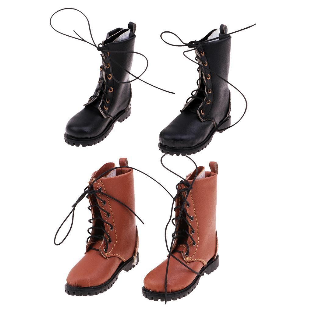 1//6 Scale Flat Combat Boots Shoes for Male 12inch Action Figure DIY Toys