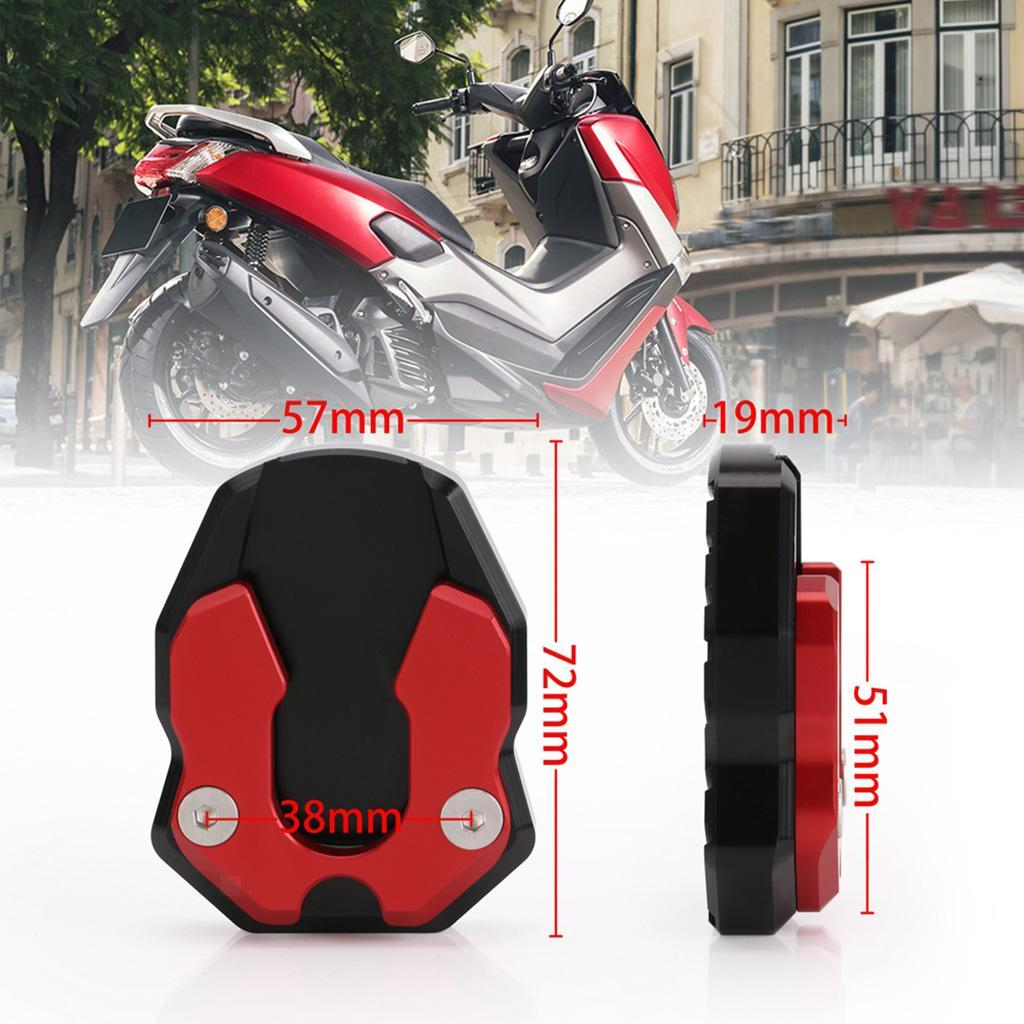Motorcycle Side Stand Kickstand Enlarge Pad for Yamaha XMAX 300 2017-2018
